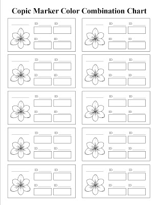 Free Printable Copic Coloring Practice Sheets Kat S